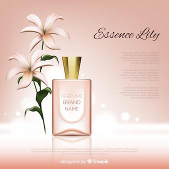 Merkadvertentie van parfum