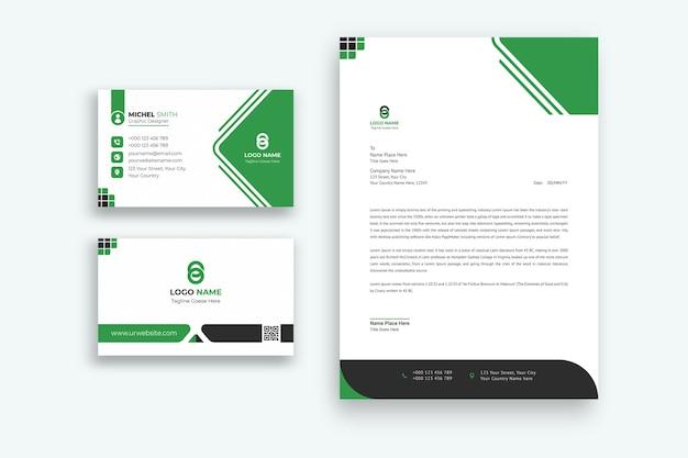 Merkidentiteit briefpapier set premium vector