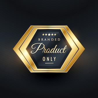 Merkproduct alleen gouden badge vector design