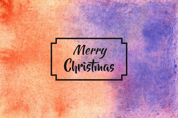 Merry christmas achtergrond in aquarel stijl