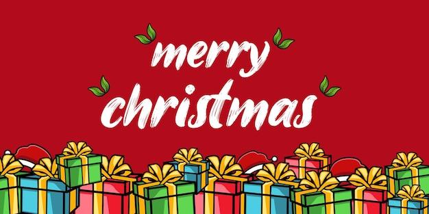 Merry christmas achtergrond met geschenken