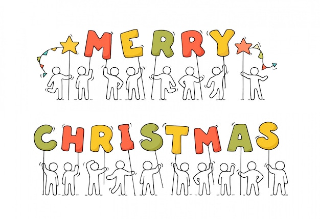 Merry christmas achtergrond met grote letters.