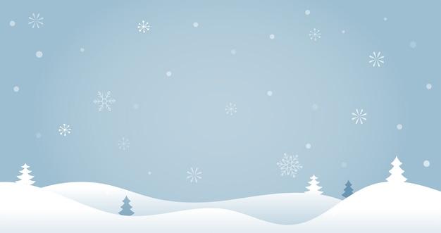 Merry christmas achtergrond met kerstbomen, wenskaart, poster en banner