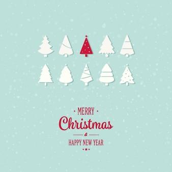 Merry christmas achtergrond met rode boom