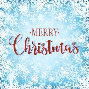 Merry christmas achtergrond met sneeuwvlokken. vector illustratie
