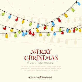 Merry christmas achtergrond verlichting