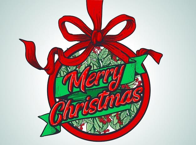 Merry christmas achtergrond voor sjabloon banner