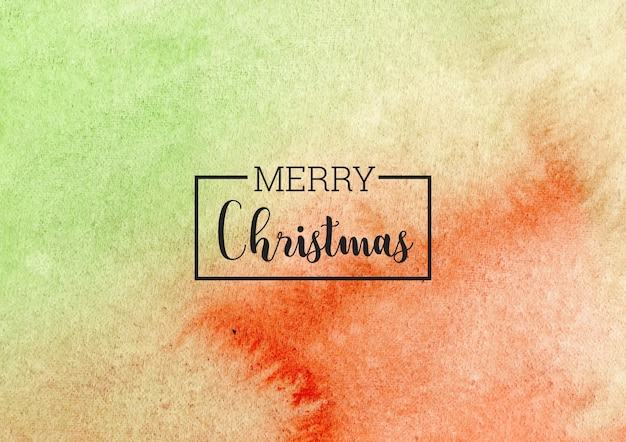 Merry christmas aquarel achtergrond