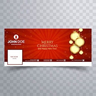 Merry christmas ball banner sjabloon