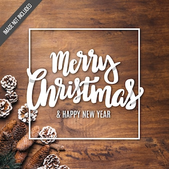 Merry Christmas belettering achtergrond