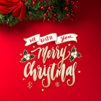 Merry christmas belettering concept