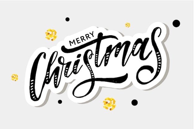 Merry christmas belettering kalligrafie