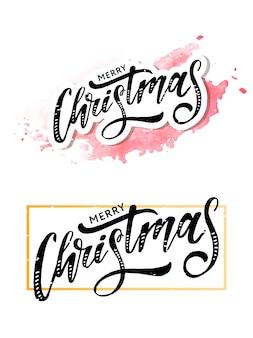 Merry christmas belettering
