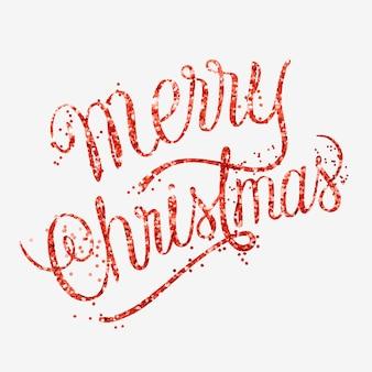 Merry christmas-bericht met de hand geschreven