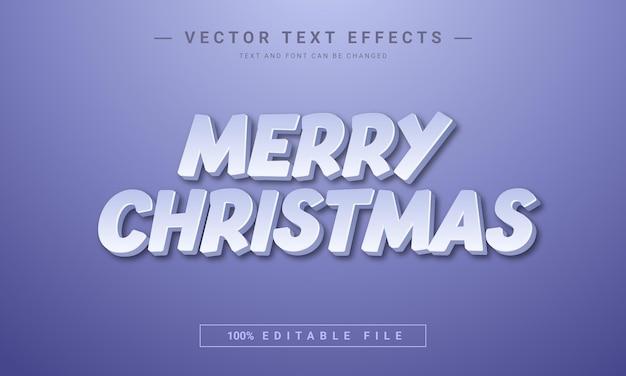 Merry christmas bewerkbaar 3d-teksteffect