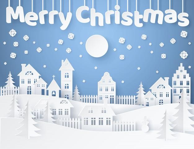 Merry christmas briefkaart illustratie