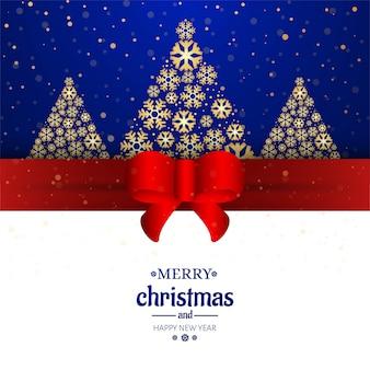 Merry christmas card decoratieve achtergrond