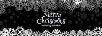 Merry christmas celebration kaartsjabloon spandoekontwerp