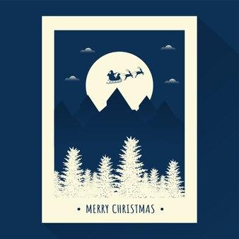 Merry christmas celebration sjabloon of posterontwerp