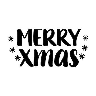 Merry christmas citaat belettering