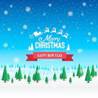 Merry christmas cover art, gelukkig nieuwjaar achtergrond, vector illustratie