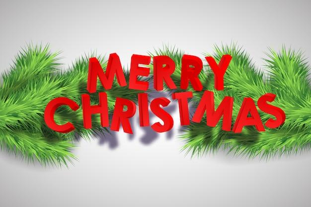 Merry christmas decoratieve achtergrond