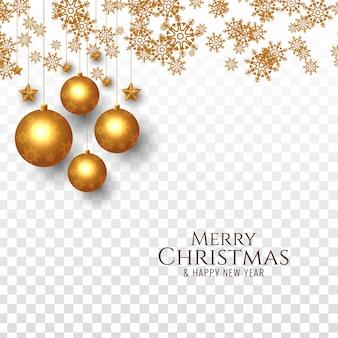 Merry christmas decoratieve feestelijke achtergrond