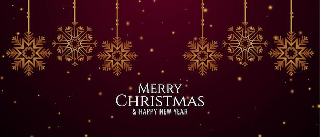 Merry christmas decoratieve groet banner