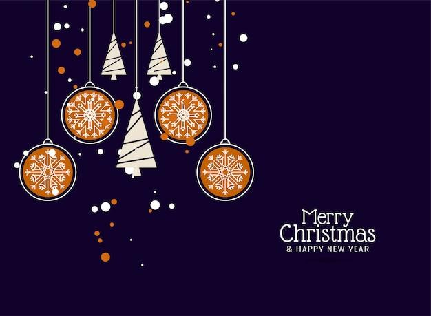Merry christmas decoratieve kleurrijke achtergrond