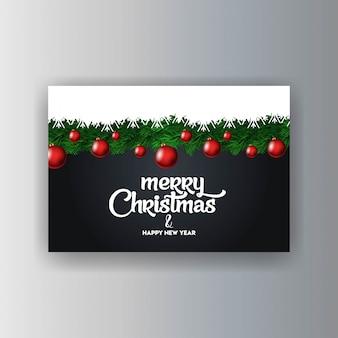 Merry christmas decoratieve vintage achtergrond
