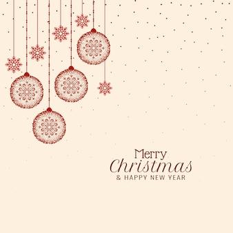 Merry christmas elegante festivalgroet