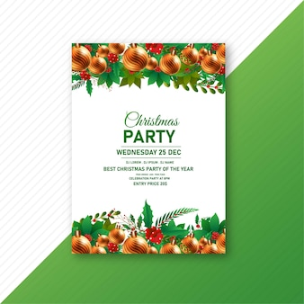 Merry christmas elegante flyer achtergrond