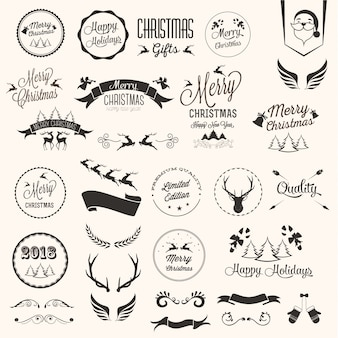 Merry christmas-etiketten instellen