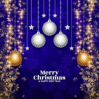 Merry christmas festival achtergrond met glanzende glitters