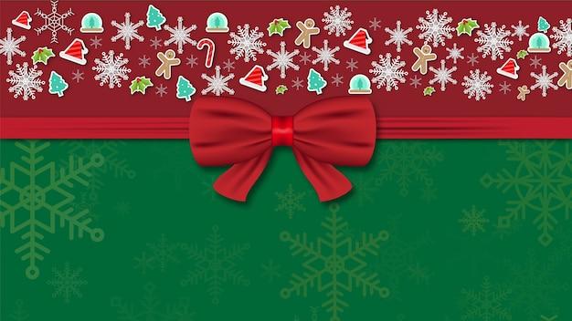 Merry christmas festival achtergrond vakantie. xmas decoraties seizoen