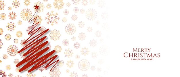 Merry christmas festival groet decoratieve banner vector