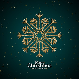 Merry christmas festival sparkle sneeuwvlok achtergrond