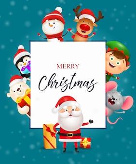 Merry christmas flyer ontwerp