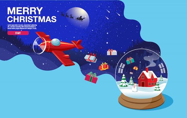 Merry christmas gelukkig nieuw jaar 2020 sneeuw landschap winter