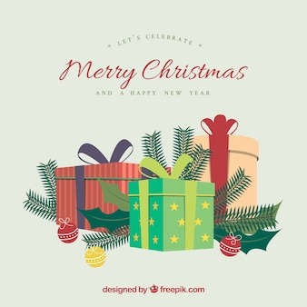 Merry christmas geschenken achtergrond