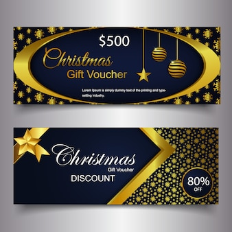 Merry christmas gift card background banner