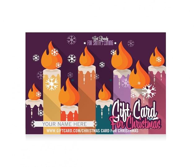 Merry christmas gift card met kalligrafie belettering van ontwerp