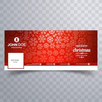 Merry christmas glanzende sneeuwvlok banner