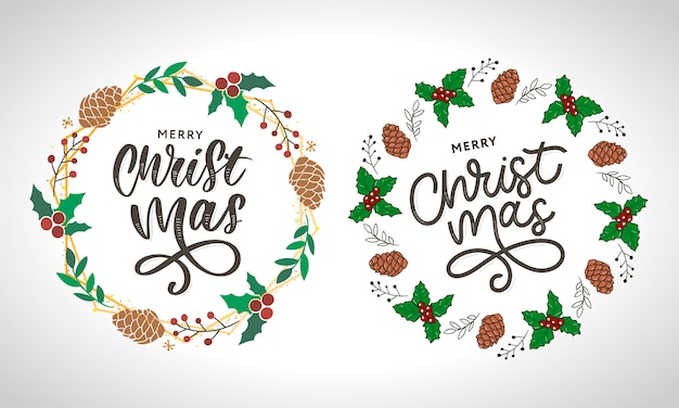 Merry christmas gouden glinsterende letters ontwerp.