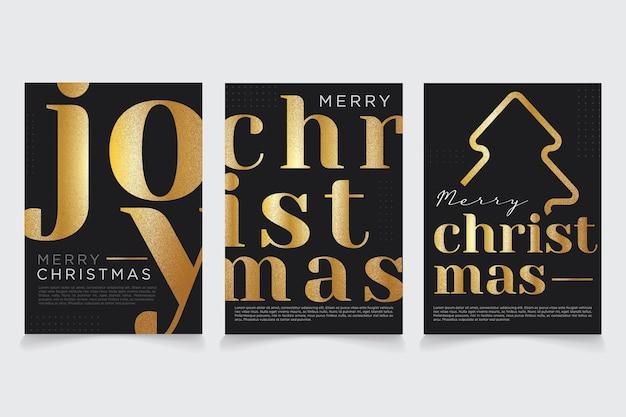 Merry christmas gouden wenskaart ontwerp