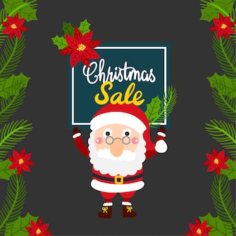 Merry christmas greeting card, kerst sale.