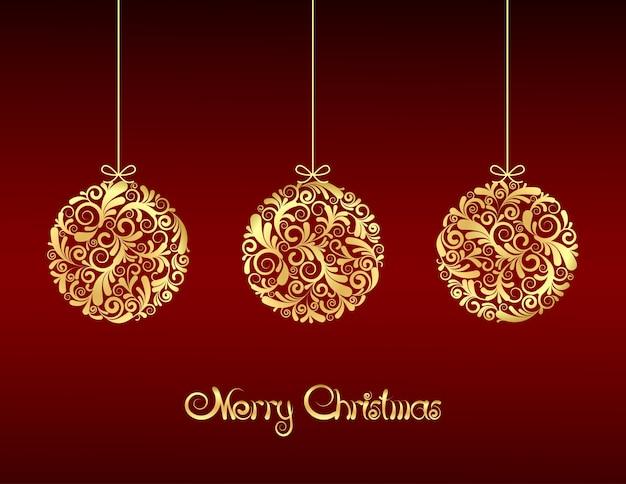 Merry christmas groet illustratie
