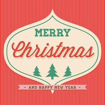 Merry christmas hand belettering typografisch.