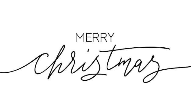 Merry christmas hand getekend modern kalligrafisch ontwerp. vakantie belettering handgeschreven sjabloon voor wenskaart of sociale media. vector illustratie