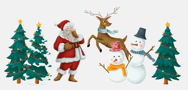 Merry christmas hand getrokken kaart